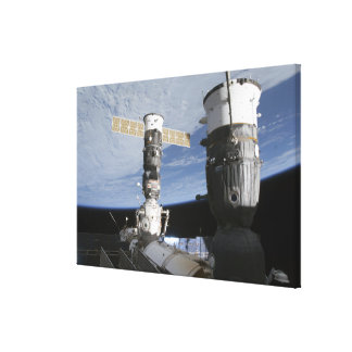 Russian Soyuz and Progress spacecrafts Canvas Print