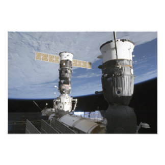 Russian Soyuz and Progress spacecrafts Photo Print
