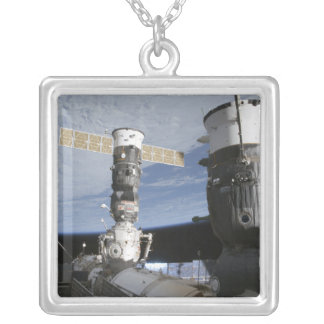 Russian Soyuz and Progress spacecrafts Silver Plated Necklace