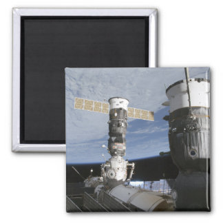 Russian Soyuz and Progress spacecrafts Square Magnet