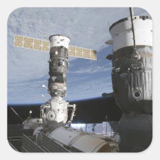 Russian Soyuz and Progress spacecrafts Square Sticker