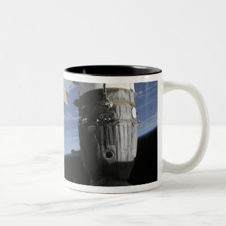 Russian Soyuz and Progress spacecrafts Two-Tone Coffee Mug