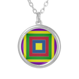 Russian Square Silver Plated Necklace