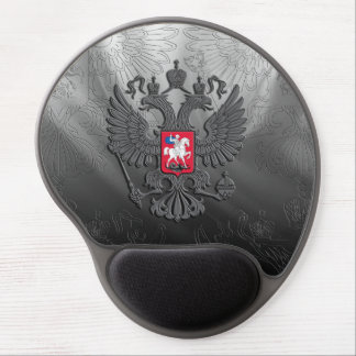 Russian symbol double eagle flag gel mouse pad