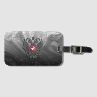 Russian symbol double eagle flag luggage tag