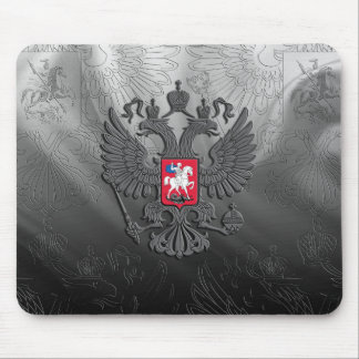 Russian symbol flag grey mouse pad