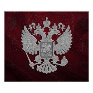 Russian symbol flag poster