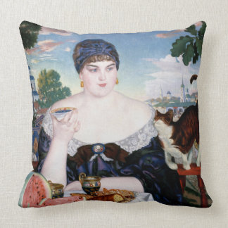 "Russian Tea Party Throw Pillow 20"" x 20"""