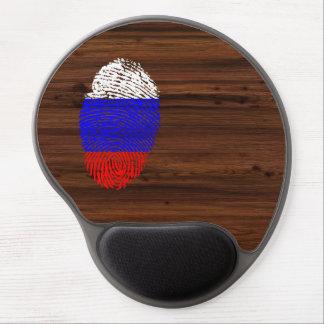 Russian touch fingerprint flag gel mouse pad
