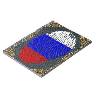 Russian touch fingerprint flag notebook