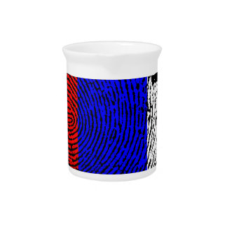 Russian touch fingerprint flag pitcher