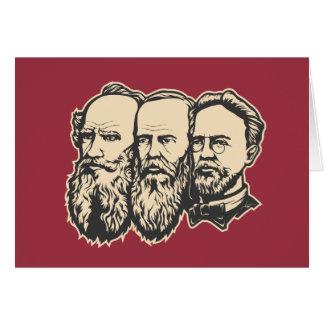 Russian Troika: Tolstoy, Dostoevsky, Chekhov Card