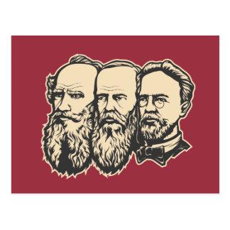 Russian Troika: Tolstoy, Dostoevsky, Chekhov Postcard