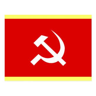 Russian USSR Hammer & Sickle Flag Post Card