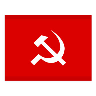 Russian USSR Hammer & Sickle Flag Postcard
