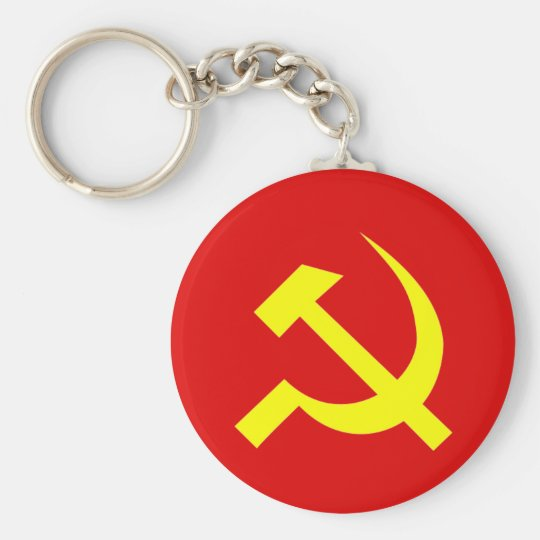 Russian USSR Hammer & Sickle Keychain