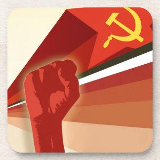 Russian Vintage Communist Propaganda Beverage Coaster