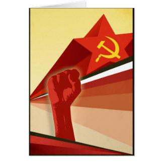 Russian Vintage Communist Propaganda Card