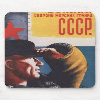 Russian Vintage Communist Propaganda Poster Mouse Pads