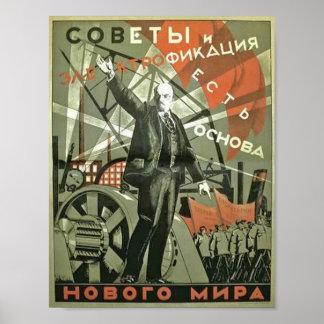 Russian Vintage Propaganda Poster