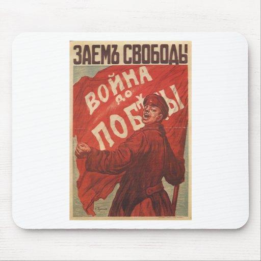 Russian Vintage Propaganda Poster Mouse Pad