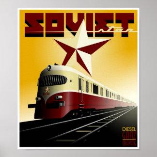 Russian Vintage Railway Propaganda Poster