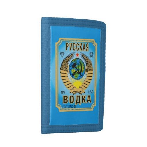 Russian Vodka Brand Bottle Label Funny Wallet