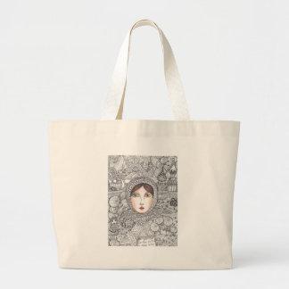 russian woman large tote bag