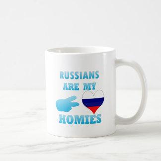 Russians are my Homies Basic White Mug
