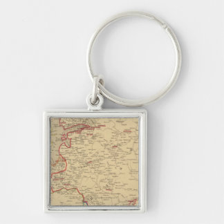 Russie, Pologne, Suede, Norwege, Danemarck en 1840 Key Ring