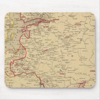 Russie, Pologne, Suede, Norwege, Danemarck en 1840 Mouse Mat