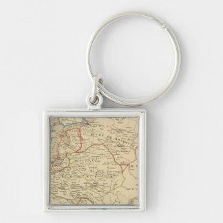 Russie, Pologne, Suede, Norwege, Danemarck Key Ring