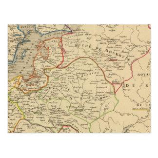 Russie, Pologne, Suede, Norwege, Danemarck Postcard