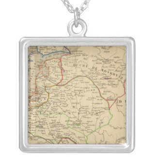 Russie, Pologne, Suede, Norwege, Danemarck Silver Plated Necklace