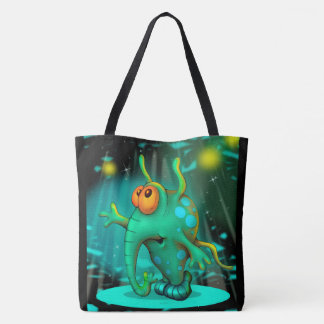 RUSSS ALIEN All-Over-Print Tote Bag LARGE 2