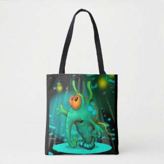 RUSSS ALIEN All-Over-Print Tote Bag MEDIUM 2