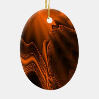 Rust Agate Christmas Ornament