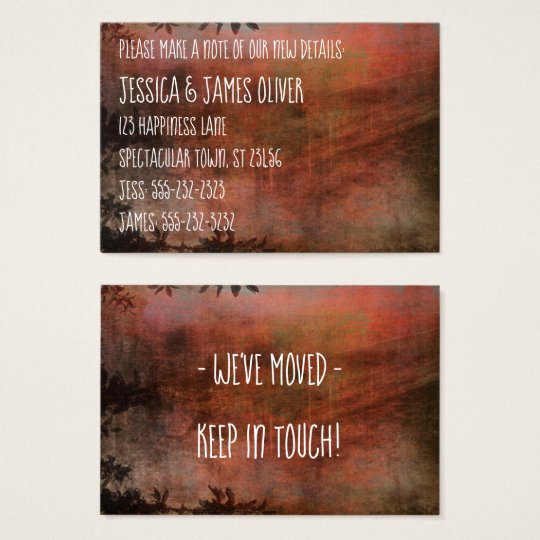 Rust and Brown Grunge We've Moved Handout Card