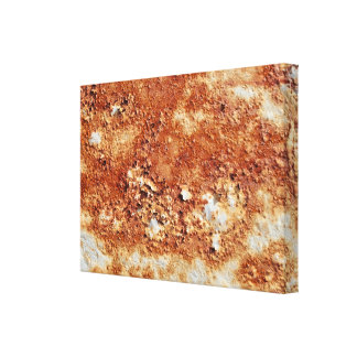 Rust and paint stretched canvas prints