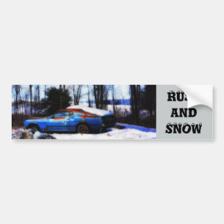 Rust and Snow Bumper Sticker