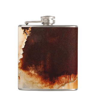 Rust Art Cool Fun Unique Hip Flask