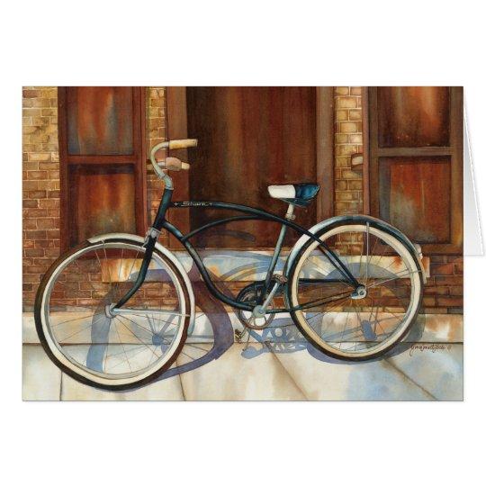 Rust Bike blank Card