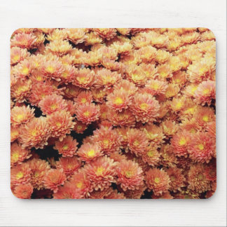 Rust colored mums mouse pad