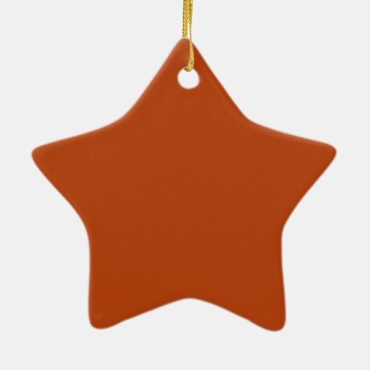 Rust Cute Single Colour Christmas Ornament