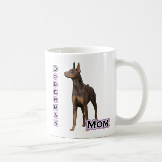 Rust Doberman Mom 4 Coffee Mug
