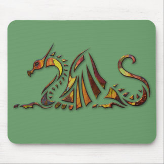 Rust Dragon Mouse Pad