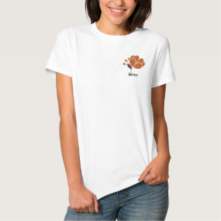 Rust Flower Personalized Polo Shirt