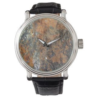 Rust Grey White Mineral Texture Wrist Watches