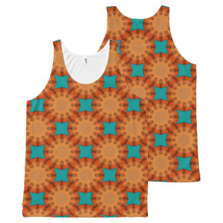 Rust-Mandala, Colors of Rust All-Over Print Tank Top