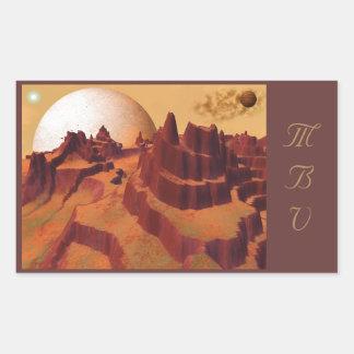 Rust Mountain Plateau Space Scene Stickers